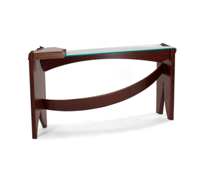 Curved Dovetail Console Table by Nico Yektai