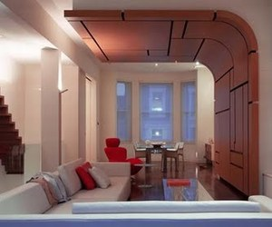Curved Leather by Belsize Architects