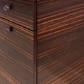Custom Cabinetry: horizontally matched exotic wood veneer