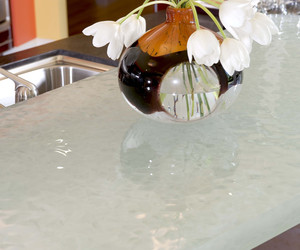 Custom Crushed-Glass Counter by Danenberg Design