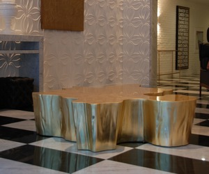 Gilded Tree Trunk: Custom Furniture by kolectiv