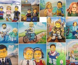 Custom LEGO Portraits by Cynthia Maravich