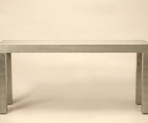 Custom Made Zinc Console Table