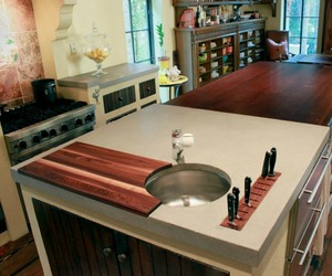Custom Wood and Concrete Countertops