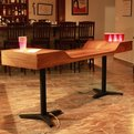 Custom Wood with LED Lighting Beer Pong Tables