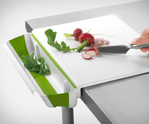 Cutting Board with Collapsible Bin