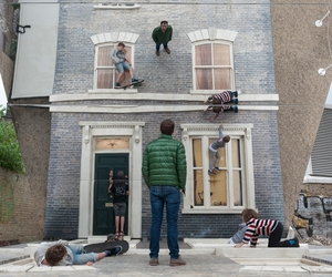Dalston House installation by Leandro Erlich