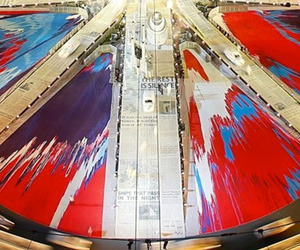 Damien Hirst's Spin Union Jack Flag For Olympics