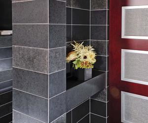 Danenberg Design - Shoe Closet in Spa-Like Master Bath