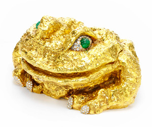 David Webb Gold, Diamond and Emerald Frog