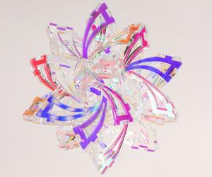 Dazzling geometric sculpture