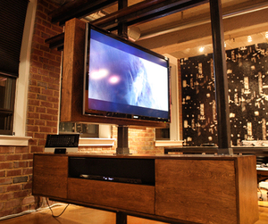 dbd Studio - Cantilevered, Rotating Media Cabinet