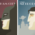 DC Comics Superhero Travel Posters by Dave Ault.