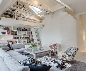 Delightful Swedish Loft with Cleverly Designed Spaces
