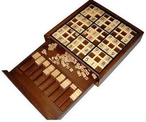 Deluxe Wooden Sudoku Board Game