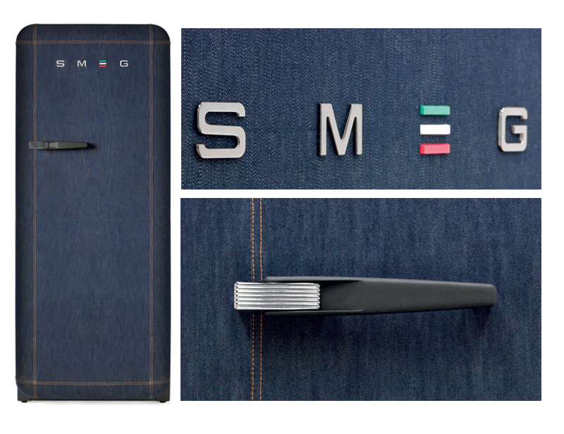 Denim Covered Limited Edition Fridge From Smeg