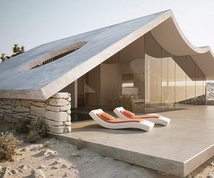 Desert Villa Interior and Exterior Simulation by Studio Aiko