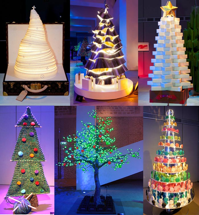Designer Christmas Trees For Paris Auction