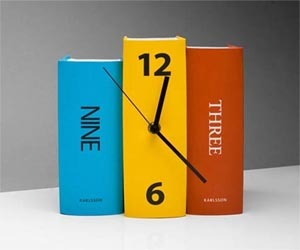 Desk Clock from Old Books – Paper Cover Color