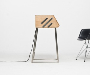 Deskbox Wall Mounted Desk by Raw Edges for Arco