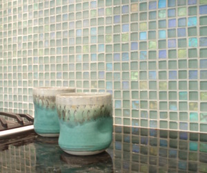 Dichroic Glass Backsplash by Danenberg Design