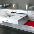 Dining Table and Seating Pull Out of Kitchen by Alno