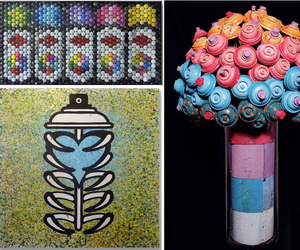 Discarded Spray Paint Cans Become Art