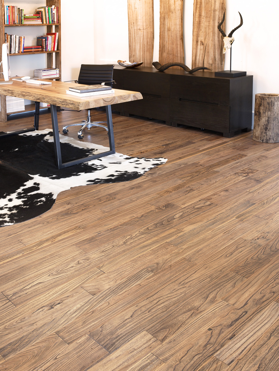 Distressed Antique Elm Flooring By Mountain Lumber