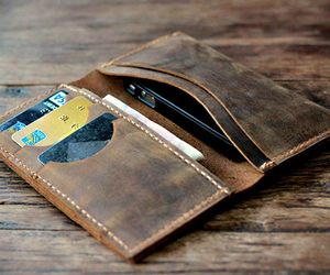 Distressed Leather iPhone 5 Wallet