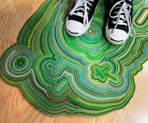 DIY: Creative Unique Carpet Made Of Felt Scraps