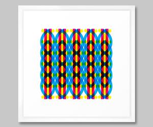 'DNA' framed print