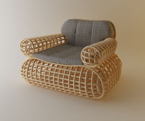 Doeloe Lounge Chair and Pretzel Bench - Abie Abdillah