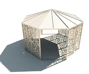 Domitto Gazebo by Stefano Pirovano for Bysteel