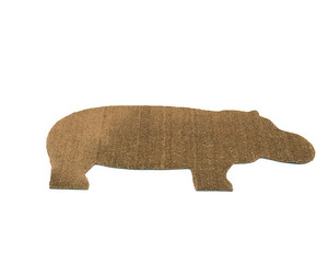 Coir and PVC Hippo Doormat