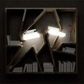 Dramatic Light Effect Bookcase Design