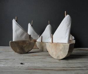 Driftwood Sailboat Napkin Holders