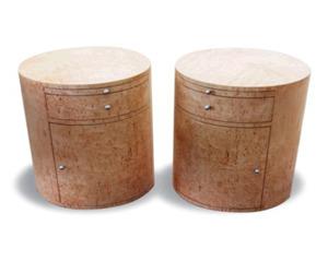 Drum Tables Design for Beside Beds