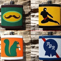 Duct tape flasks and wallets.