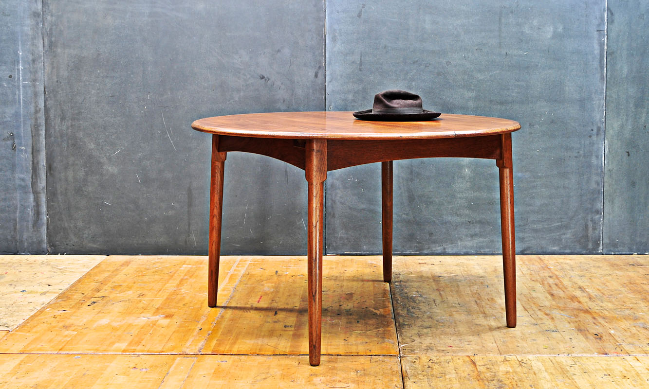 fifties wagner danish modern teak dining table -