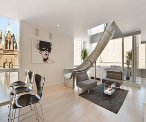East Village Penthouse Featuring a Helical Slide