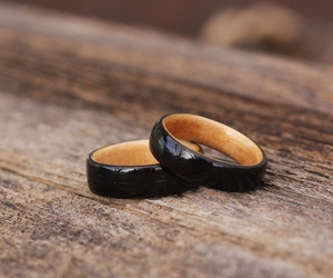 Ebony on Maple Bentwood Anniversary Rings