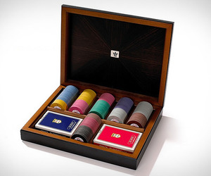 Ebony Poker Set   by Dal Negro
