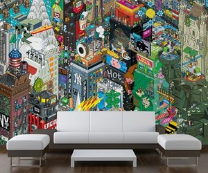 eBoy's Pixelated Art Available As Wall Murals & Wallpaper!