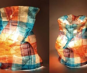 Eco-chic 'Knitting lamp'