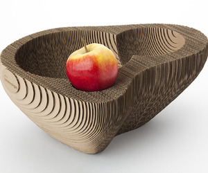 Eco Friendly DIY Corrugated Cardboard Fruit Bowl