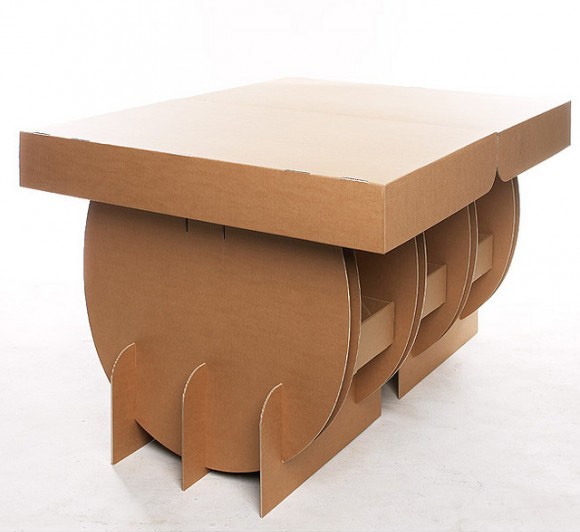 Eco Friendly Portable Cardboard Table By Sruli Recht