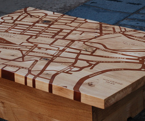 Edinburgh Map table by BIRKY