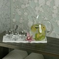 Effervescence Glass & Marble Mosaic Tile