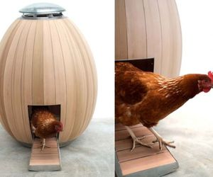 Egg-shaped Nogg chicken coop is sculpturally cool