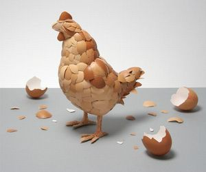 Egg Shell Sculpture By Kyle Bean